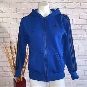 adidas Hooded Track Jacket Blue